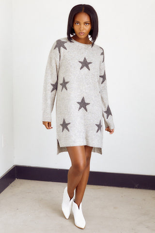 Brindley Star Print Sweater Dress