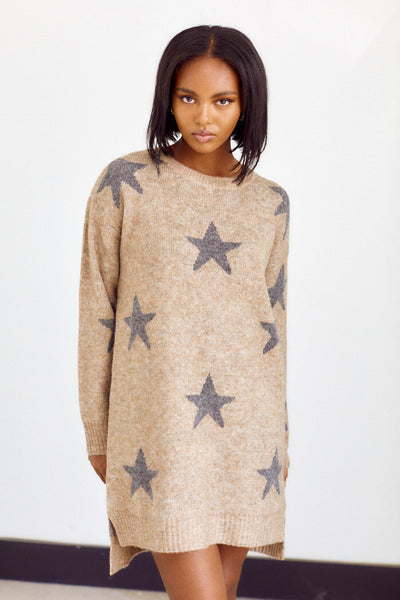 fab'rik - Brindley Star Print Sweater Dress image thumbnail