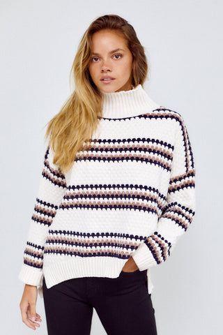 Preorder Indie Fluffy Knit Stripe Sweater