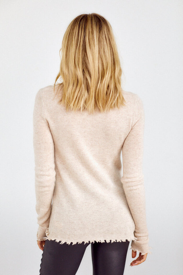 PreOrder Finn Distressed Turtleneck Sweater