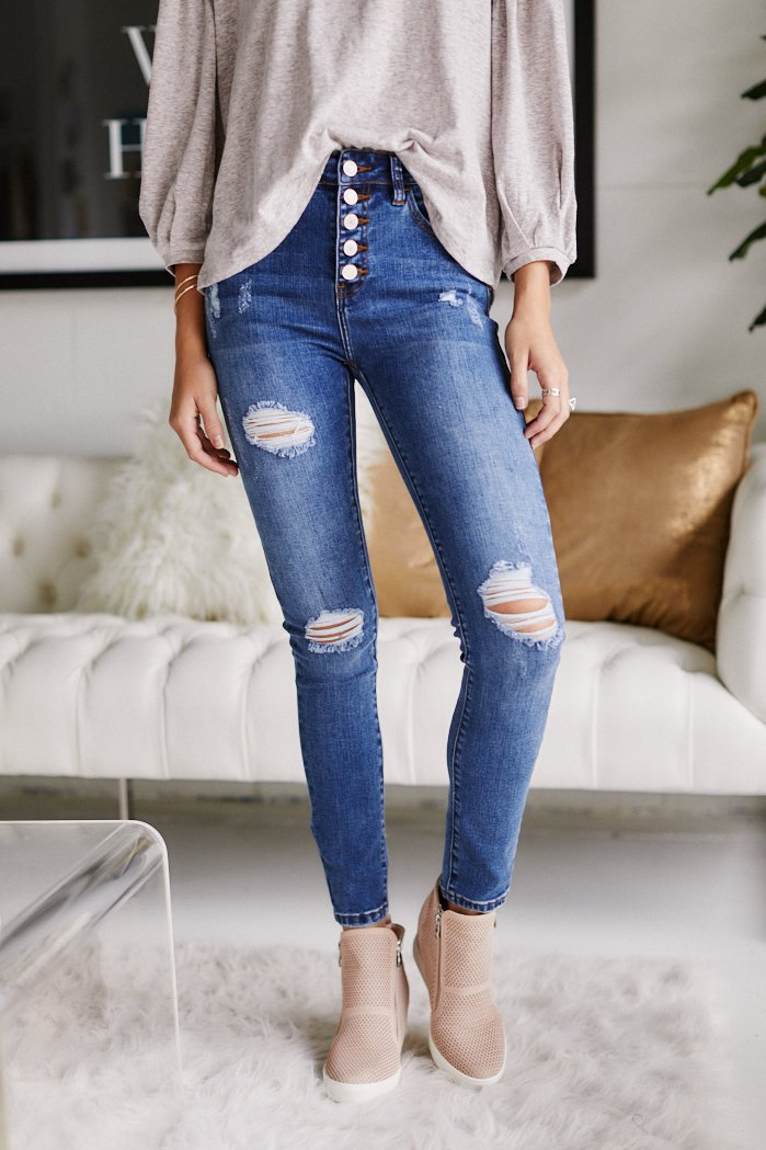fab'rik - Jaymes Distressed Skinny Jeans ProductImage-11398428098618