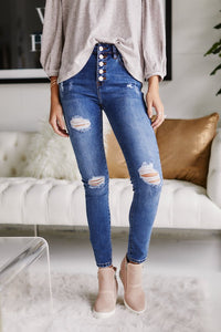 Jaymes Distressed Skinny Jeans