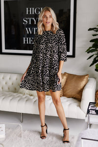 Delila Dotted Swing Dress