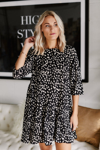 fab'rik - Delila Dotted Swing Dress image thumbnail
