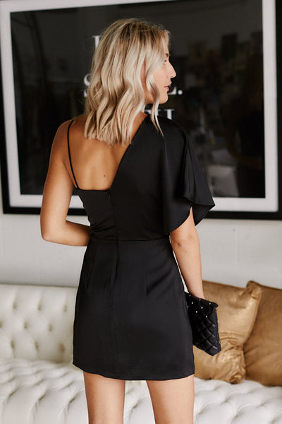 fab'rik - Greer One Shoulder Dress image thumbnail