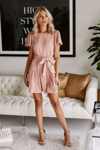 Adaline Suede Mini Dress