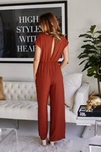 Load image into Gallery viewer, Kenzlee Tie Front Jumpsuit