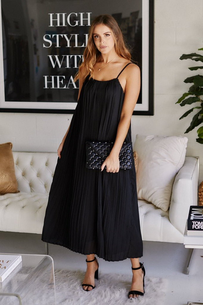 Luna Pleated Maxi Dress