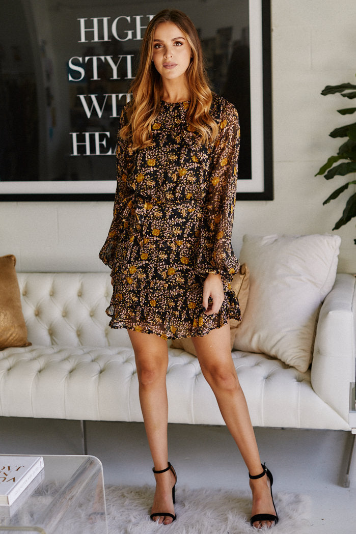 fab'rik - Leia Printed Long Sleeve Dress ProductImage-11469551632442