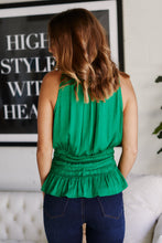 Load image into Gallery viewer, Izzy Smocked Waist Sleeveless Blouse