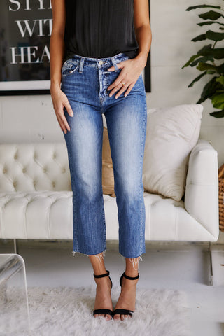 Slauson Button Fly Crop Denim
