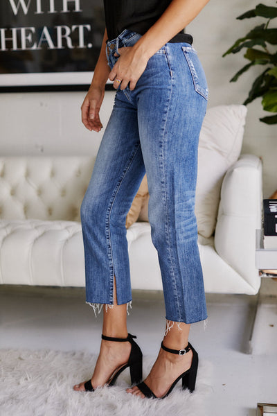 fab'rik - Slauson Button Fly Crop Denim image thumbnail