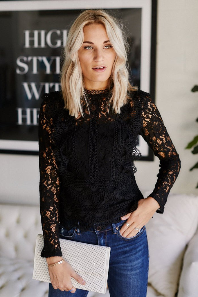 Reyna Ruffled Lace Top