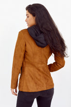 Load image into Gallery viewer, SALE - Carley Faux Suede Hooded Jacket