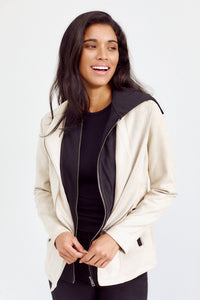 PreOrder Carley Faux Suede Hooded Jacket