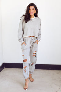 Mari Distressed Jogger