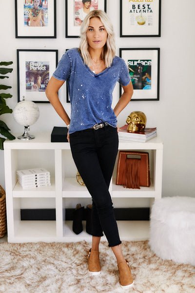 fab'rik - Z Supply Jersey Denim V-Neck image thumbnail