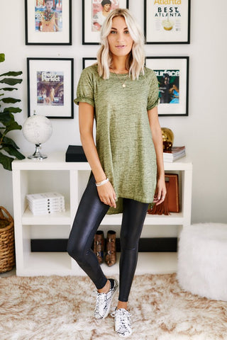 The Airy Slub Slit Tunic