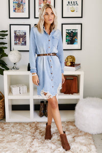 Britton Long Denim Duster Shirt