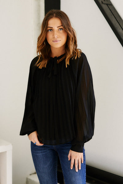 fab'rik - Eden Pleated Long Sleeve Blouse image thumbnail