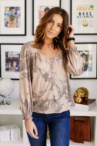 Chandler Animal Print Blouse
