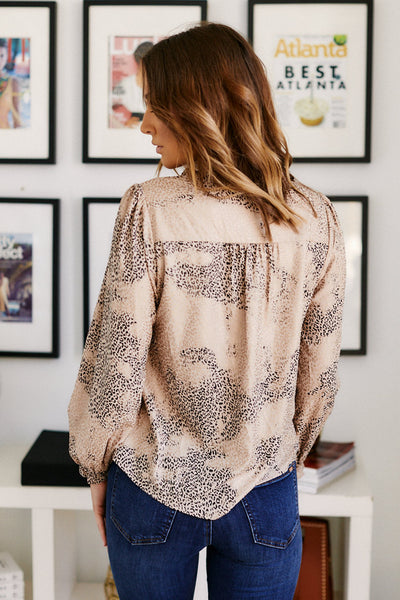 fab'rik - Chandler Animal Print Blouse image thumbnail