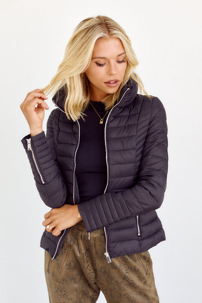 fab'rik - Lacy High Neck Puffer Jacket image thumbnail