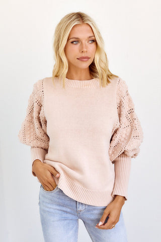 PreOrder Marjie Puff Sleeve Sweater