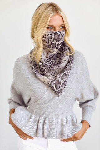 PreOrder Raleigh Printed Scarf Face Mask