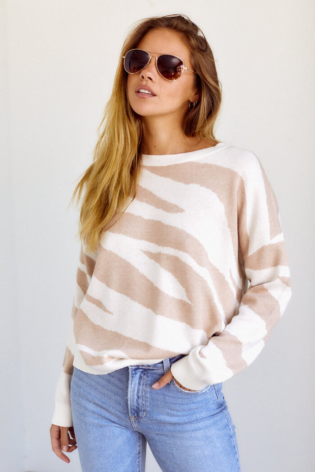 PreOrder Josalyn Tiger Stripes Sweater