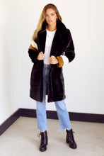 Load image into Gallery viewer, SALE  - Bentley Stripe Faux Fur Jacket