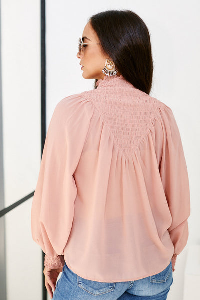 fab'rik - Willa Smocked Detail Long Sleeve Blouse image thumbnail