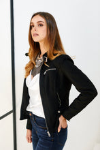 Load image into Gallery viewer, Dawn Faux Suede Moto Jacket