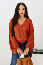 Load image into Gallery viewer, Lucilla Satin Wrap Top