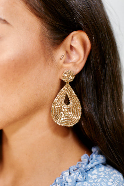 fab'rik - Beaded Teardrop Earrings image thumbnail