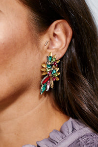 Multi Bead Marquise Wing Earrings