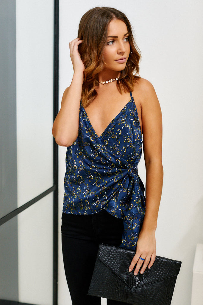 Bewitching Floral Wrap Cami