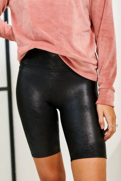 fab'rik - Spanx Faux Leather Bike Shorts image thumbnail
