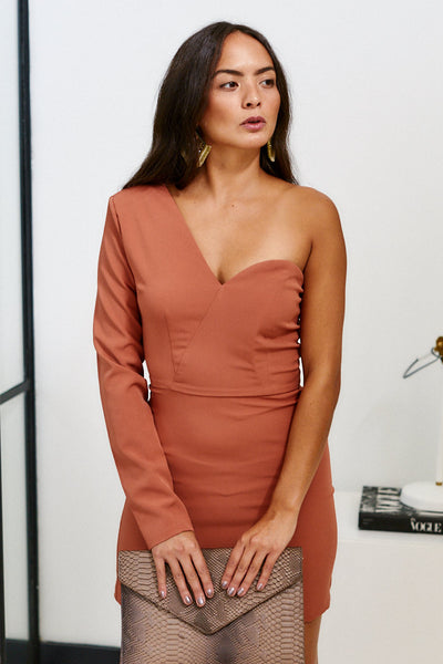 fab'rik - Tinsley One Shoulder Cocktail Dress image thumbnail
