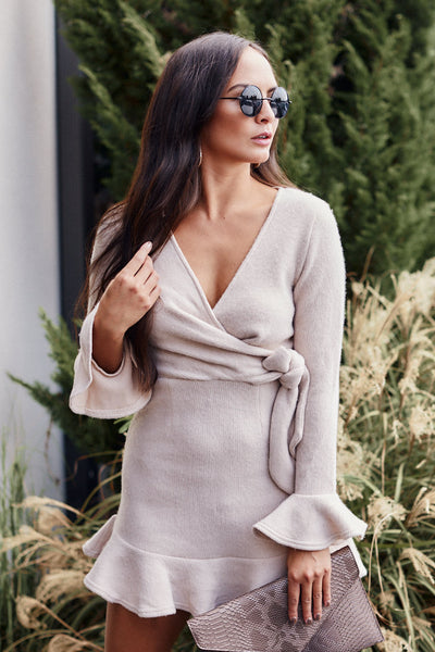 fab'rik - Cypress Long Sleeve Wrap Dress image thumbnail