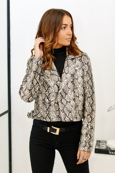 fab'rik - Blank NYC Breakaway Faux Leather Snake Jacket image thumbnail