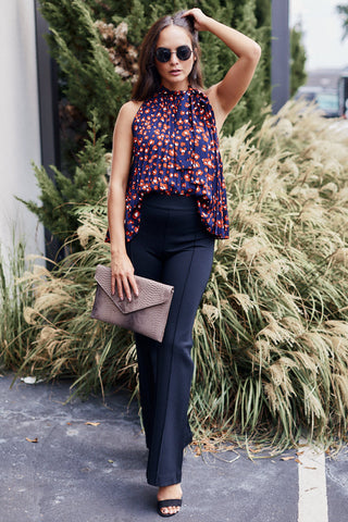 Lafayette Sleeveless Tie Neck Blouse