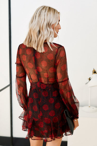 fab'rik - Lima Long Sleeve Printed Dress image thumbnail