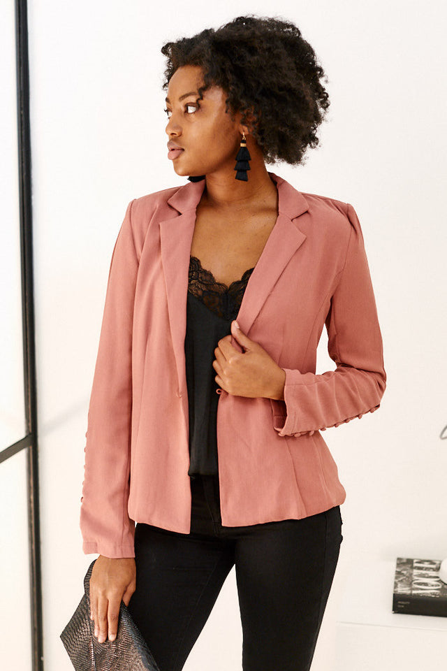 June Button Detail Blazer