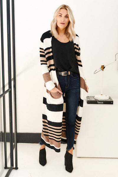 fab'rik - Asher Jane Striped Cardigan image thumbnail