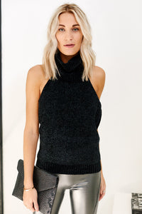 Asher Emily Sleeveless Turtleneck Sweater