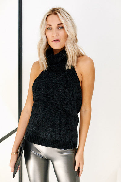 fab'rik - Asher Emily Sleeveless Turtleneck Sweater image thumbnail