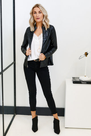 PreOrder Spanx Faux Leather Moto Jacket