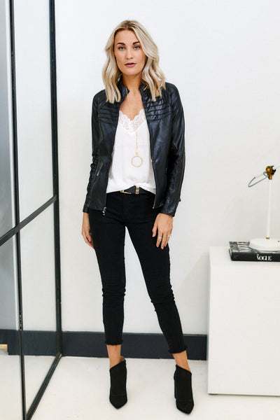 fab'rik - PreOrder Spanx Faux Leather Moto Jacket image thumbnail