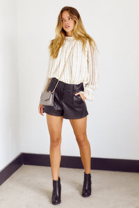 Preorder Valley Faux Leather Shorts